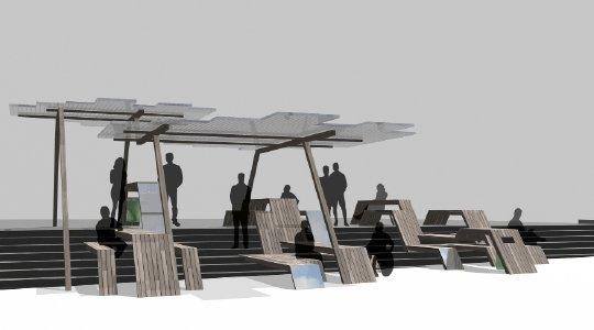 biennale de cr ation mobilier urbain de la d fense 2e dition didier saco design. Black Bedroom Furniture Sets. Home Design Ideas